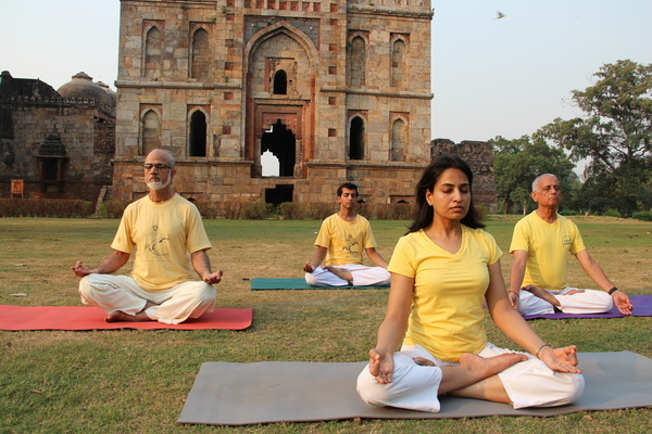 Free yoga classes for underprivileged children by NGO  Harmony House, India.