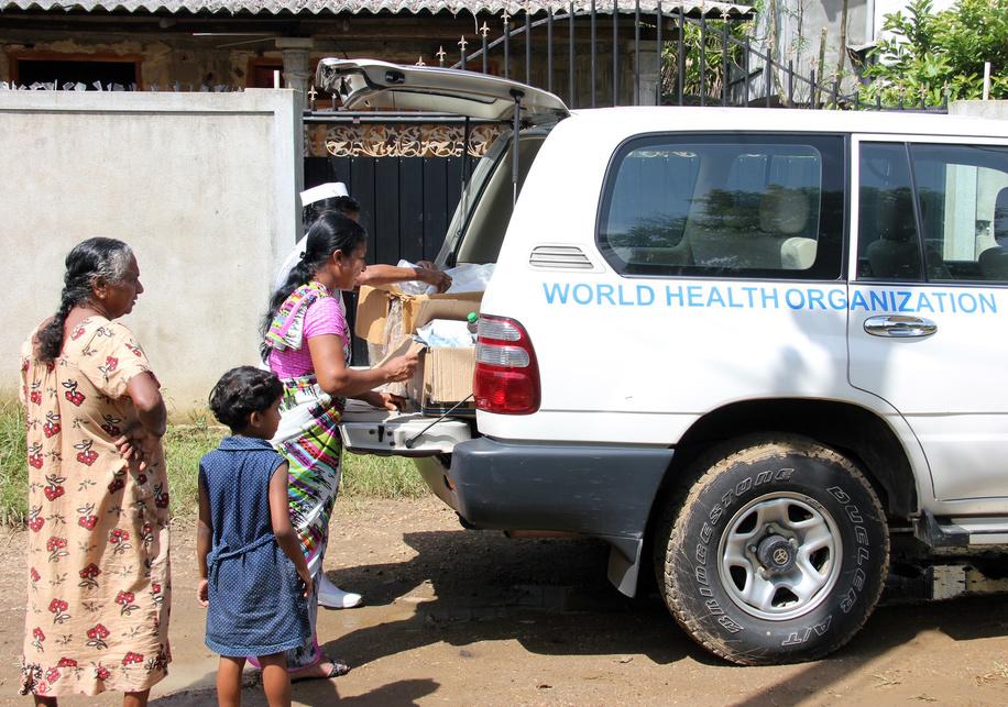 WHO vehicle mobile teams