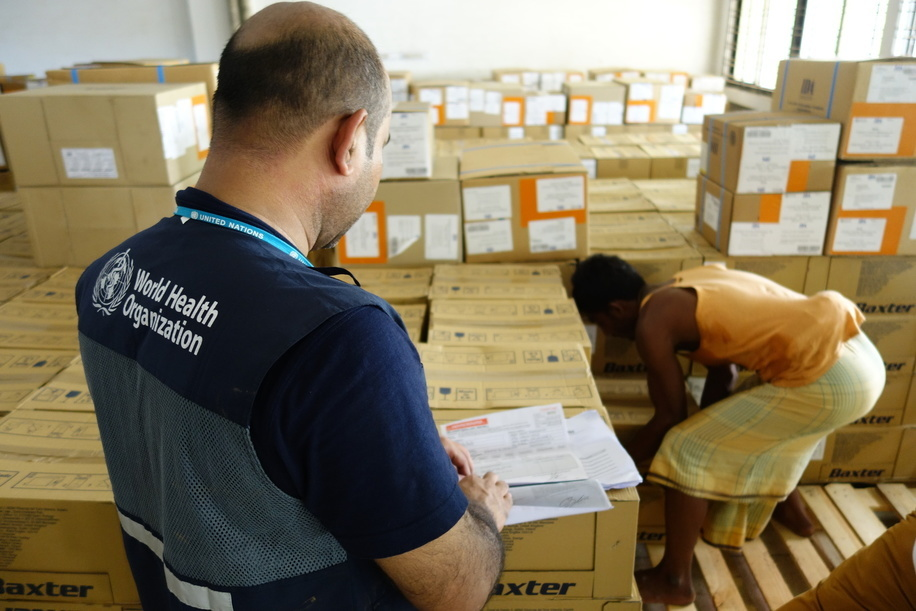 Arrival of supplies at the Cox's Bazar district hospital