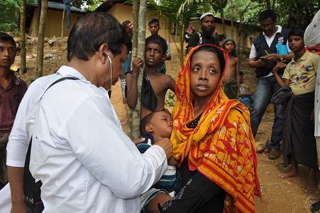 Rohingya settlement in Cox's Bazar